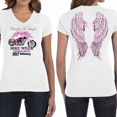 "Bike Week Daytona Beach 2017 Ladies 015 ""Hardly An Angel"" T-Shirt"