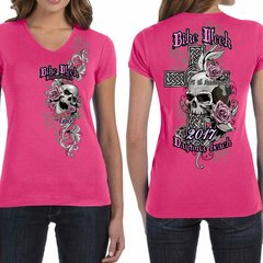 Bike Week Ladies 004 Cross/Skull T-Shirt