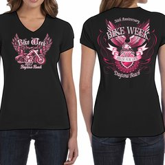"Bike Week Daytona Beach 2017 Ladies 014 ""Biker For Life"" T-Shirt"