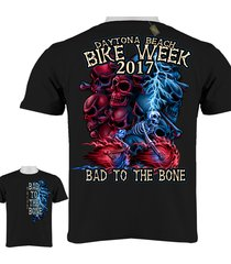 Bike Week Daytona Beach 2017 Bad To The Bone T-Shirt 0084