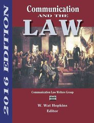 Communication and the Law 2016 Edition (Hopkins)
