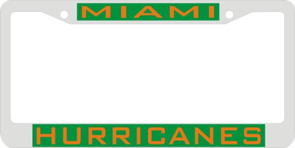 License Plate Frame Miami Hurricanes Hbcu Hbcu