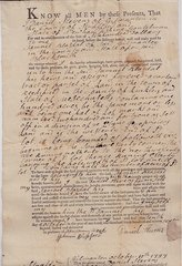 1797 Early American Deed Involving a Blacksmith