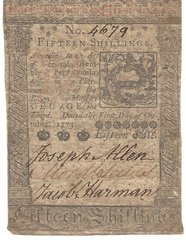 1773 Colonial Currency, PA; Baltimore Savings, Chambersburg Savings Fund