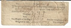 Roxbury, MA, Farmer Samuel Goddard Receives Receipt for Hay in 1782