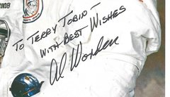 Space Hall of Fame Astronaut, American Hero Al Worden -- His Inscribed Photograph