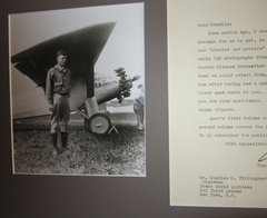 Pioneer Aviator Charles Lindbergh Grateful for Photographs for Wife's Book