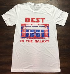 Best in The Galaxy Unisex Solid White Super Soft Crew Tee