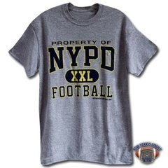NYPD Finest Football Team Grey Short Sleeve T-Shirt