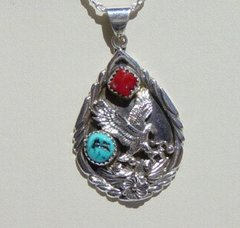 Eagle Jewelry with Turquoise and Coral