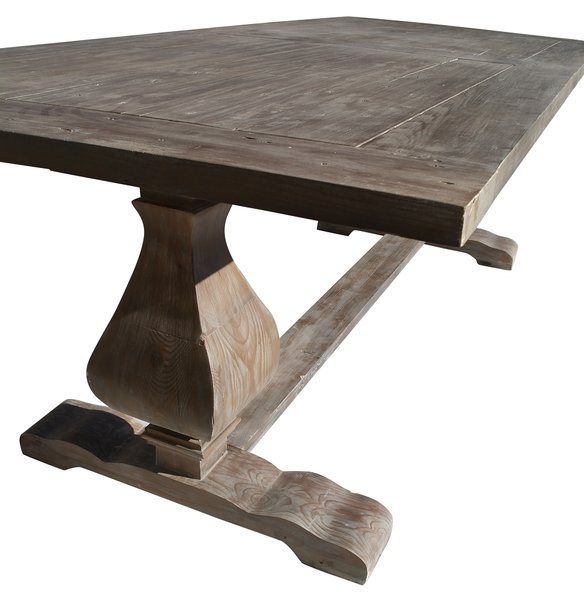 large refectory reclaimed wooden dining table bright breezy