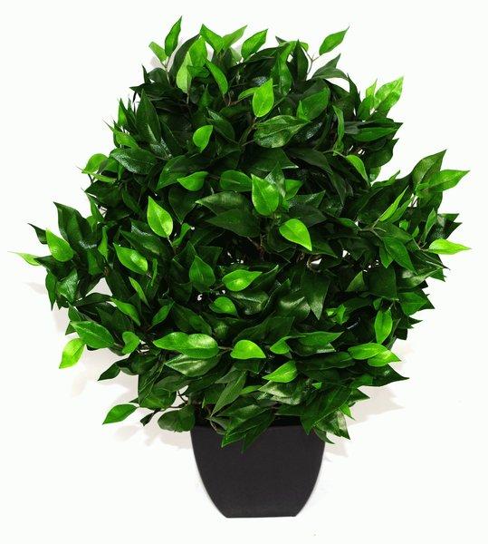 Artificial Plant Medium 65cm Ficus Ball With Black Pot