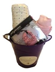 Gift Hamper for a baby girl - Pink & Purple Mix