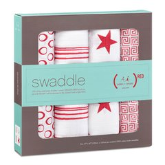 Aden + Anais - Special Edition Classic Swaddles Red (4 Pack)
