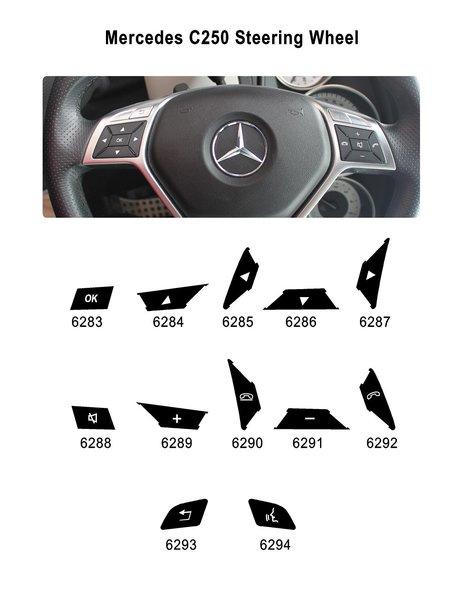 Mercedes benz c250 steering wheel button renu for Mercedes benz steering wheel control buttons