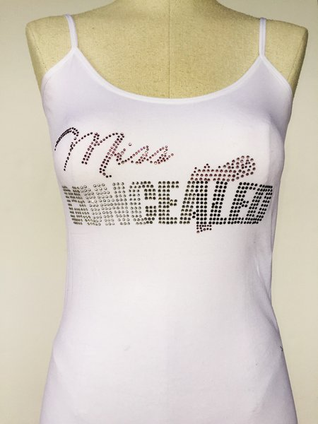 Miss Concealed Bling spagetti strap tank top