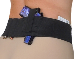 Hidden Heat 3 - Women's and Men's Belly Band Concealed Carry Gun Holster - Black