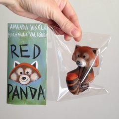 red panda mini resin figure