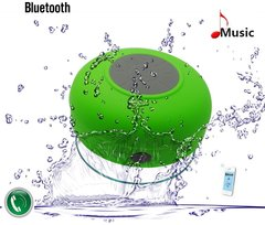 Waterproof Wireless Bluetooth Hands-Free Mic & 3W Mini HIFI Speaker with Suction-Cup for Shower in Mint Green for ALL Bluetooth Enabled Devices
