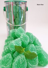 The Mint Shack Spearmint Candy Gummy Leaves Tins