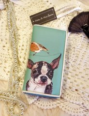 Mint Premium PU Leather Bi-Fold Zip Around Wallet with Doggy Print