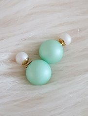 The Mint Shack Cocktail Double Sided Mint White Earrings