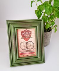 4 x 6 Vintage Rustic Textured Wooden Green Picture Frame