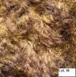 "LBS103-10 Yellow Brown mix 1/2"" Curly Mohair"