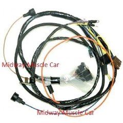 chevy electrical wiring harness midway muscle car engine harness w gauges 69 chevy camaro ss 350 396 427