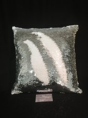 Mermaid sequin silver and white scatter cushion