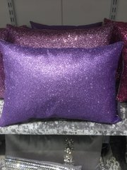 Beautiful Bailey Lilac flat glitter scatter cushion 14 x10 inch