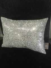 Stunning Silver Claira scatter cushion- crackle silver