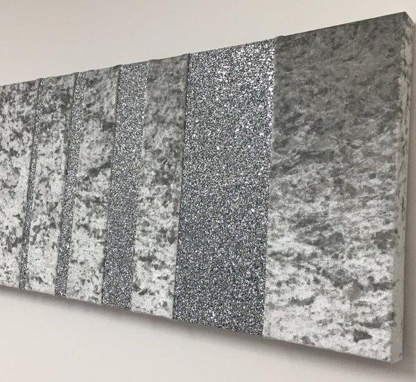 Beautiful Designer Barcode Glitter And Crushed Velvet