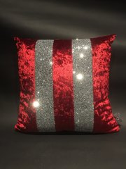 Beautiful Red Ava crushed velvet scatter cushion