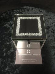 Beautiful mirror and silver sparkle jewellery box