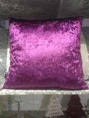 Stunning plain velvet Fuschia scatter cushion