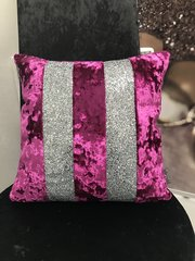 Stunning Ava pink Glamour with silver glitter scatter cushion