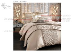 AW 2016 Kylie at home Celeste shell bedding and cushions