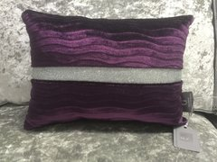 Beautiful Purple Lucille wave scatter cushion disco glitter