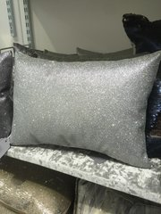 Stunning Bailey flat disco silver glitter scatter cushion 14 x 10 inch