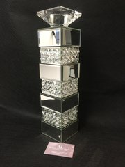 Beautiful mirror and crystal large candle holder