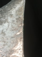 beautiful silver crushed velvet with disco silver glitter pipe scatter cushion