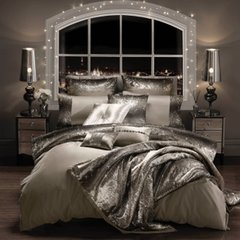 Stunning Kylie at Home Mila Bedding Praline/Silver - size options