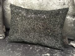 Stunning Grey Claira cushion - crackle glitter Grey 14x10inch