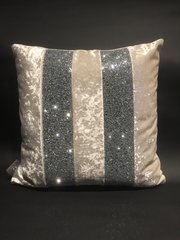 Stunning Ava pearl white crushed velvet scatter cushion