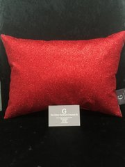 Beautiful Bailey Red glitter scatter cushion 14x10 inch
