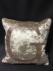 Stunning Chartreuse Gold crushed velvet - champagne gold glitter scatter cushion