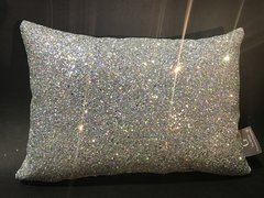 Stunning Glitter Claira Silver disco scatter cushion