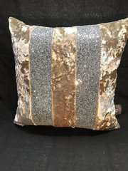 Beautiful Ava Moonlight crushed velvet lustro with silver glitter scatter cushion
