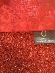Luxury Red Crushed velvet and red glitter wall art Large